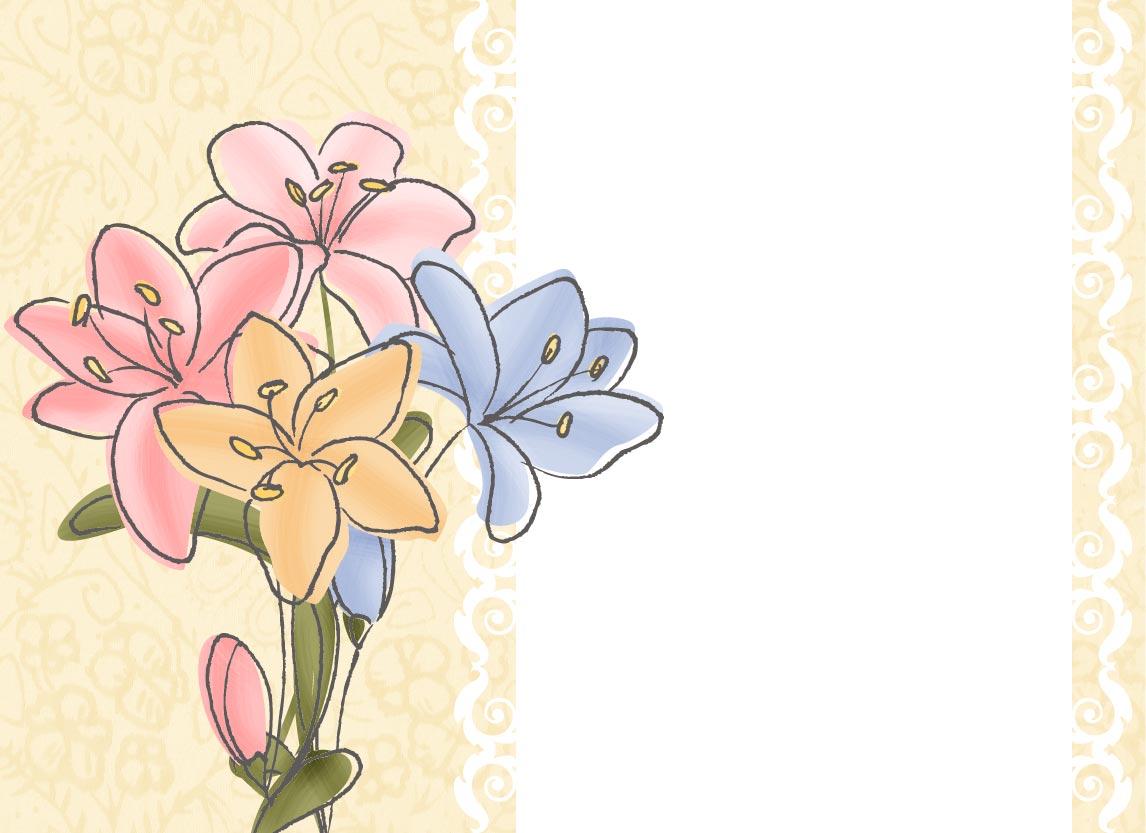 "Tarjeta ""Flores"" Para Felicitar. Ingresa Tu Texto Y"