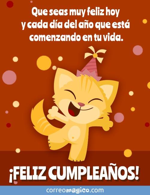 Que seas muy feliz hoy y cada día del año que está comenzando en tu vida.   ¡FELIZ CUMPLEAÑOS!