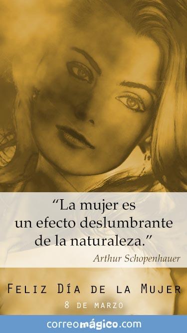La mujer es un efecto deslumbrante de la naturaleza