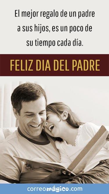 El mejor regalo de un Padre a sus hijos es un poco de tiempo cada día