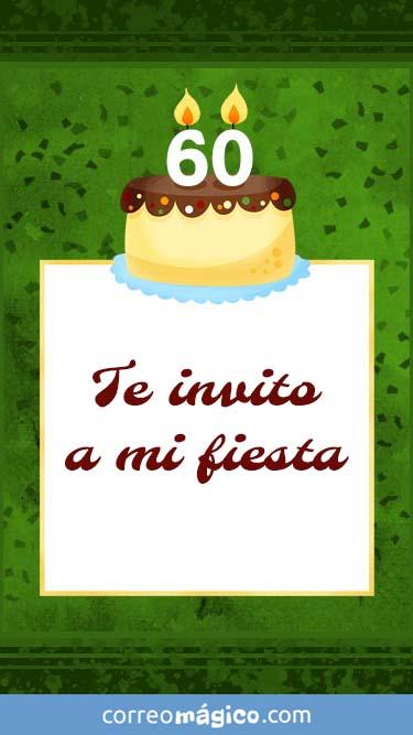 Toca En La Imagen Para Ver La Invitacion De Cumpleaños De 60