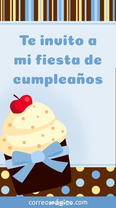 Tarjeta de Invitacion a fiesta de Cumpleaños de varon para whatsapp para enviar desde tu celular o computadora