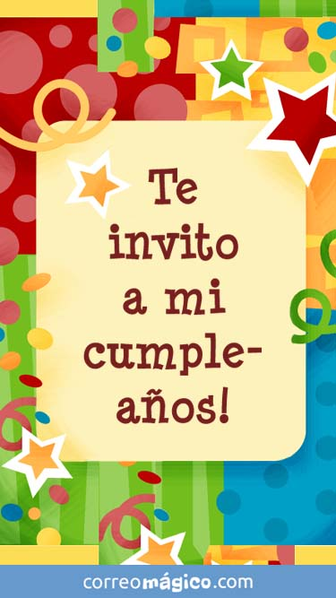 Invitacion De Cumpleaños Confeti Para Whatsapp