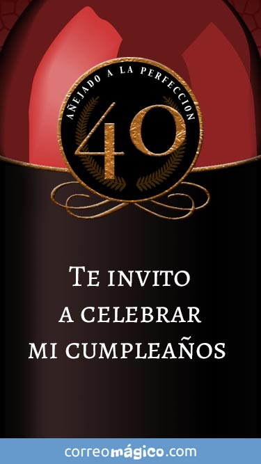 Toca En La Imagen Para Ver La Invitacion De Cumpleaños De 40