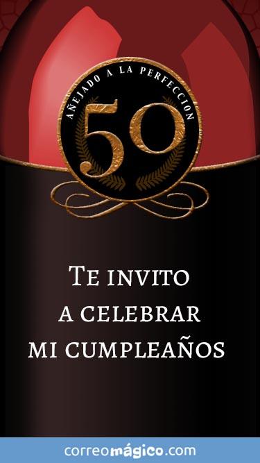 Toca En La Imagen Para Ver La Invitacion De Cumpleaños De 50