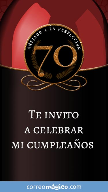 Toca En La Imagen Para Ver La Invitacion De Cumpleaños De 70