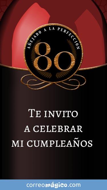 Toca En La Imagen Para Ver La Invitacion De Cumpleaños De 80