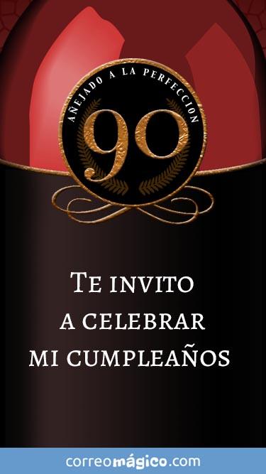 Toca En La Imagen Para Ver La Invitacion De Cumpleaños De 90