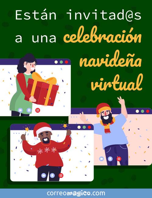 Están invitad@s a una fiesta navideña virtual