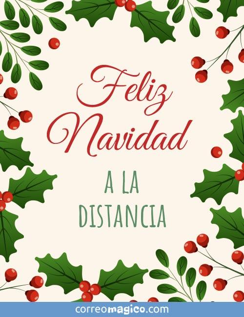 Feliz Navidad a la distancia
