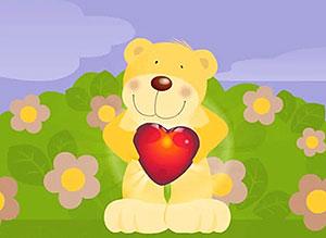 Imagen de Aniversarios para compartir gratis. Mi corazón es tuyo