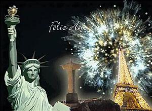 Imagen de Año Nuevo para compartir gratis. Año Nuevo en el mundo