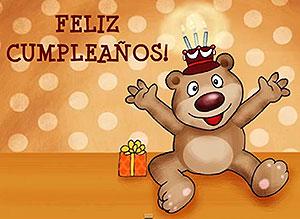 Imagen de Cumpleaños para compartir gratis. Alguien te saluda por mí