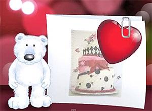 Imagen de Cumpleaños para compartir gratis. Adjunto todo mi Amor a esta tarjeta