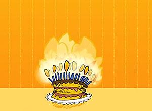 Imagen de Cumpleaños para compartir gratis. Fuego!