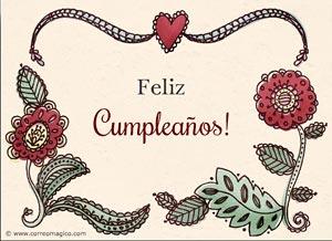 Imagen de Cumpleaños para compartir gratis. Amor y alegría en tu día