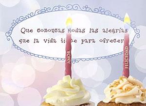 Imagen de Cumpleaños para compartir gratis. Todas las alegrías de la vida