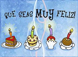 Imagen de Cumpleaños para compartir gratis. Que seas muy feliz!