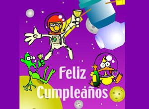 Imagen de Cumpleaños para compartir gratis. Cumpleaños espacial