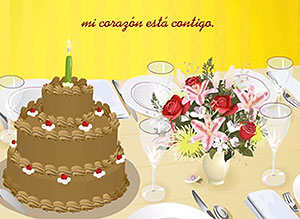 Imagen de Cumpleaños para compartir gratis. Mi corazón está contigo