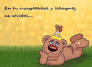 Imagen de Cumpleaños para compartir gratis. No olvides que nunca te olvido