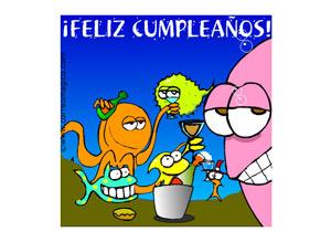Imagen de Cumpleaños para compartir gratis. Cumpleaños acuático