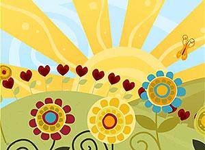 Imagen de Día de la Amigo para compartir gratis. La amistad llena todo de alegría