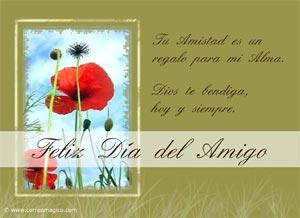 Imagen de Día de la Amigo para compartir gratis. Dios te bendiga, Amigo