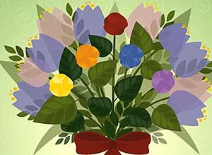 Imagen de Día de las Madres para compartir gratis. Un ramo de buenos deseos
