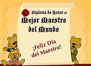 Imagen de Felicitaciones para compartir gratis. Diploma al mejor Maestro