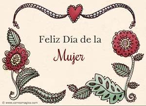Imagen de Dia de la Mujer para compartir gratis. Amor y alegría