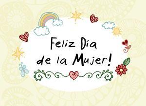 Imagen de Día de la Mujer para compartir gratis. Felicidad en tu corazón