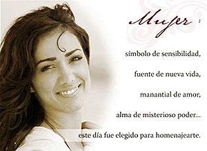 Imagen de Dia de la Mujer para compartir gratis. Homenaje a la Mujer