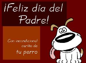 Imagen de Día del Padre para compartir gratis. De tu perro con cariño