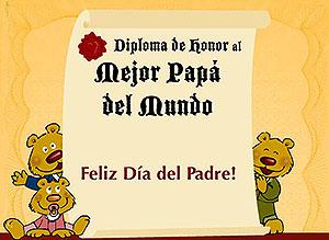 Imagen de Día del Padre para compartir gratis. Diploma para Papá