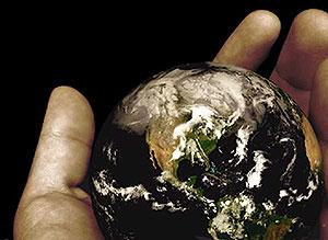 Imagen de Día de la Tierra para compartir gratis. Protegerla o destruirla?