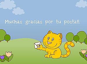 Imagen de Gracias para compartir gratis. Gracias por tu postal
