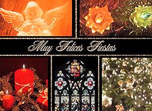 Imagen de Navidad para compartir gratis. La luz de la felicidad