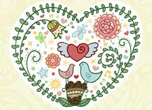 Imagen de Felicitaciones para compartir gratis. Felicidad en tu corazón