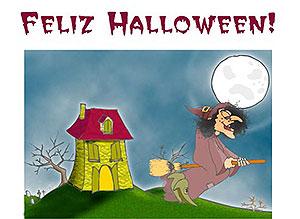 Imagen de Halloween para compartir gratis. Casa embrujada