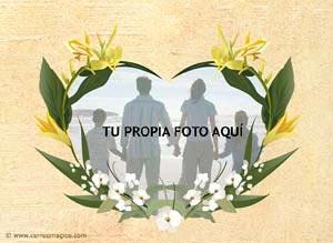 Imagen de Felicitaciones para compartir gratis. Corazón de flores