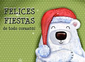 Imagen de Navidad para compartir gratis. Un abrazo a la distancia