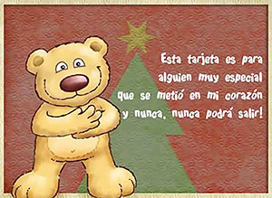 Imagen de Navidad para compartir gratis. Estás en mi corazón