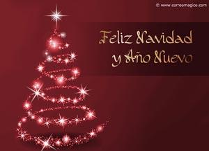 feliz navidad y ao nuevo tarjeta de navidad