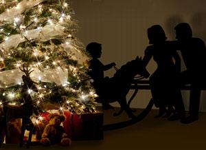 Imagen de Navidad para compartir gratis. Una familia feliz, el mejor regalo