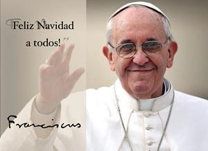 Imagen de Navidad para compartir gratis. Mensaje navideño del Papa Francisco