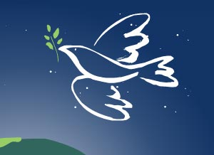 paz alrededor del mundo tarjeta de navidad