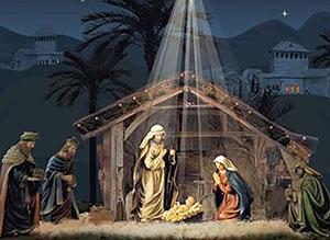 Imagen de Navidad para compartir gratis. Sagrada Noche de Paz