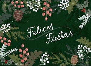 felices fiestas tarjeta de navidad
