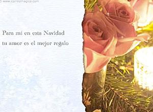 Imagen de Navidad para compartir gratis. Tu amor es mi mejor regalo